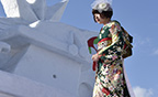 スクリーンショット:【山形雪フェスティバル】雪上着物ファッションショーのページ